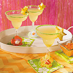 Luau Margarita Glasses Idea