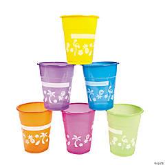 Luau Plastic Cups