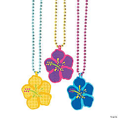 Luau Prismatic Bead Necklaces