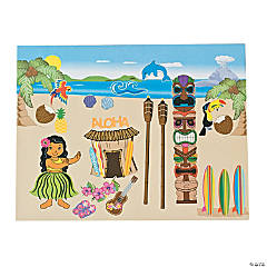 Luau Scene Stickers