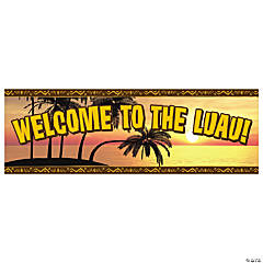 Luau Welcome Vinyl Banner