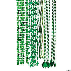 Lucky St. Patrick's Day Bead Necklace Assortment