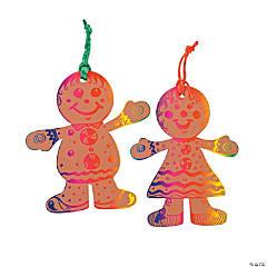 Magic Color Scratch Gingerbread Christmas Ornaments