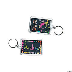 Magic Color Scratch Square Key Chains