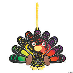 Magic Color Scratch Turkey Ornament Craft Kit