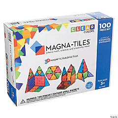 Magna-Tiles Clear Colors: 100 Piece Set