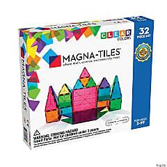 Magna-Tiles Clear Colors: 32 Piece Set
