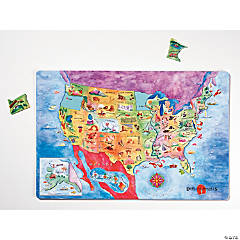 Magnetic USA Map Puzzle