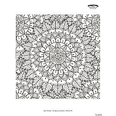 Mandala Adult Coloring Page Free Printable
