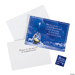 Manger with Magnet Christmas Cards