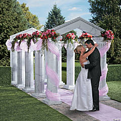 Marble Fluted Archway with Gossamer Accents Idea