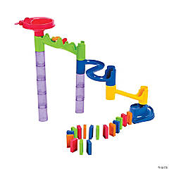 Marble Run with Dominoes Set
