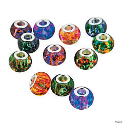 Marbled Large Hole Beads - 10mm
