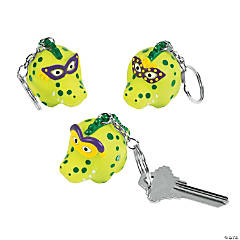 Mardi Gras Alligator Key Chains