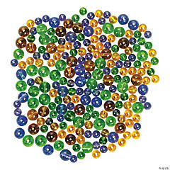 Mardi Gras Bead Assortment - 5mm-8mm