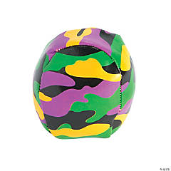 Mardi Gras Camouflage Kickballs