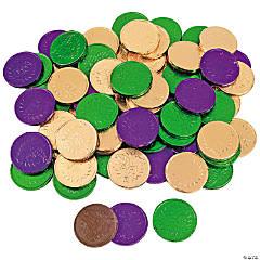 Mardi Gras Coins Chocolate Candy