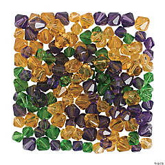 Mardi Gras Crystal Bead Assortment - 8mm