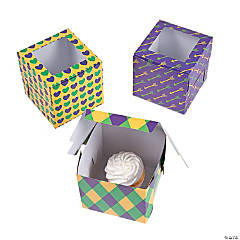 Mardi Gras Cupcake Boxes