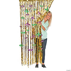 Mardi Gras Door Curtain Fringe