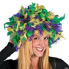 Mardi Gras Feather Headpiece