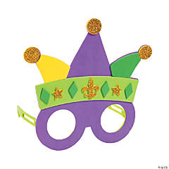 Mardi Gras Glasses Craft Kit