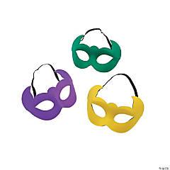 Mardi Gras Horn-Shaped Masks