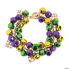 Mardi Gras Jingle Bell Bracelet Craft Kit