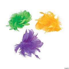 Mardi Gras Marabou Hair Clips