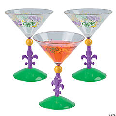 Mardi Gras Martini Glasses