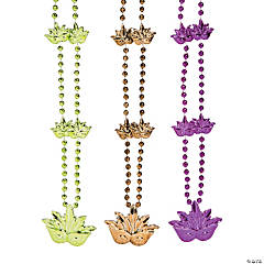 Mardi Gras Mask Beads