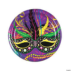 Mardi Gras Mask Paper Dinner Plates