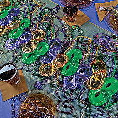 Mardi Gras Mask Table Runner Idea