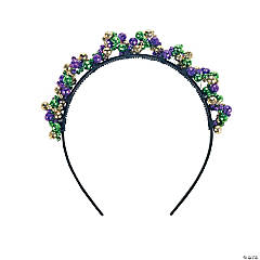 Mardi Gras Metallic Beaded Headband