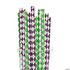 Mardi Gras Paper Straws