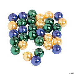 Mardi Gras Pearl Beads - 6mm