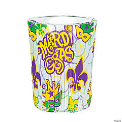 Mardi Gras Plastic Trash Can Cover