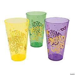 Mardi Gras Print Plastic Cups