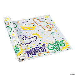 Mardi Gras Printed Banquet Tablecloth Roll