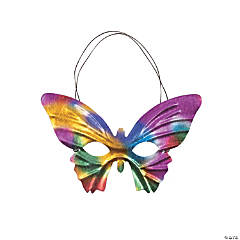 Mardi Gras Prismatic Butterfly Masks