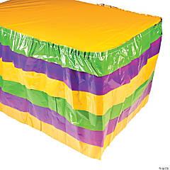 Mardi Gras Ruffle Table Skirt