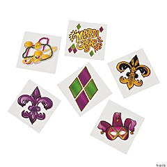 Mardi Gras Tattoo Assortment
