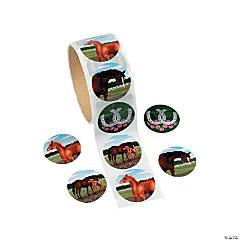 Mare & Foal Horse Sticker Rolls