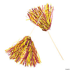 Maroon & Gold Two-Tone Spirit Pom-Poms