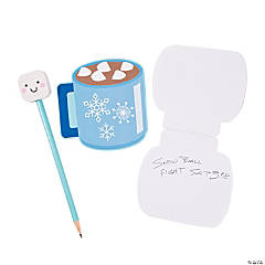 Marshmallow Pencils & Hot Cocoa Notepads