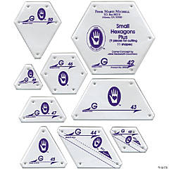 Marti Michell Perfect Patchwork Template Set G - Small Hexagon Set 9/Pkg