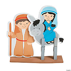 Mary & Joseph Clothespin Craft Kit