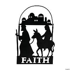 Mary & Joseph with Donkey Ornaments
