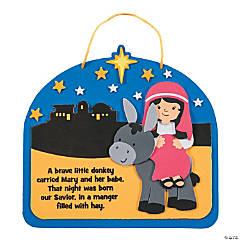 Mary on Donkey Sign Craft Kit