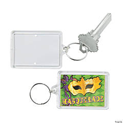 Masquerade Theme Picture Frame Key Chains